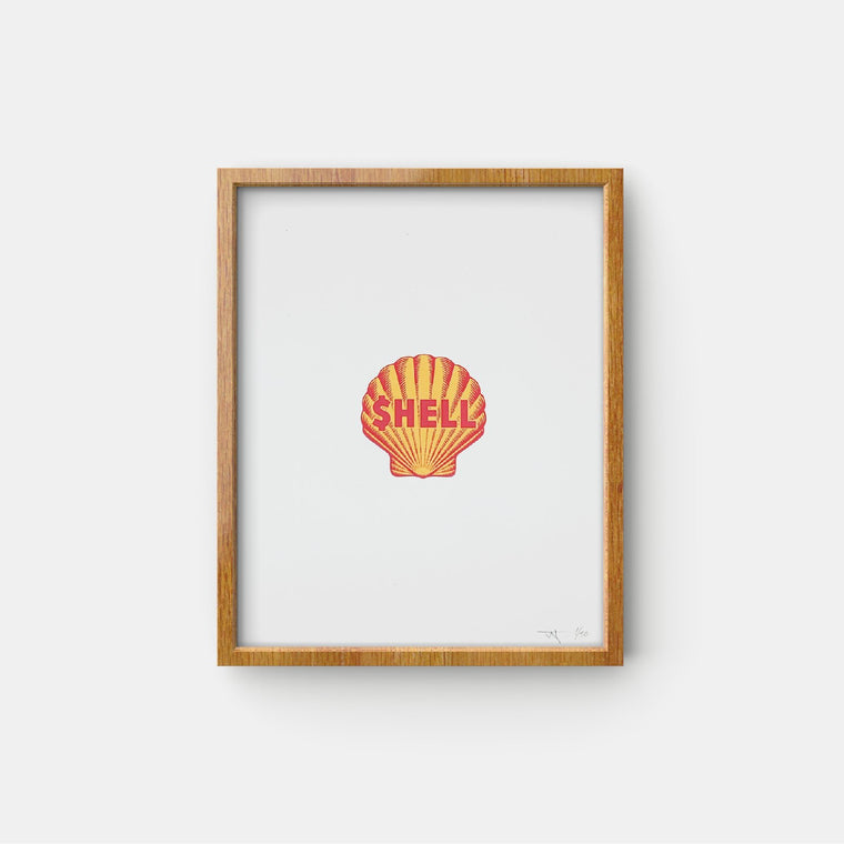 "Hypnotized Studios - $HELL 8.5"" X 11"" Screen Print 