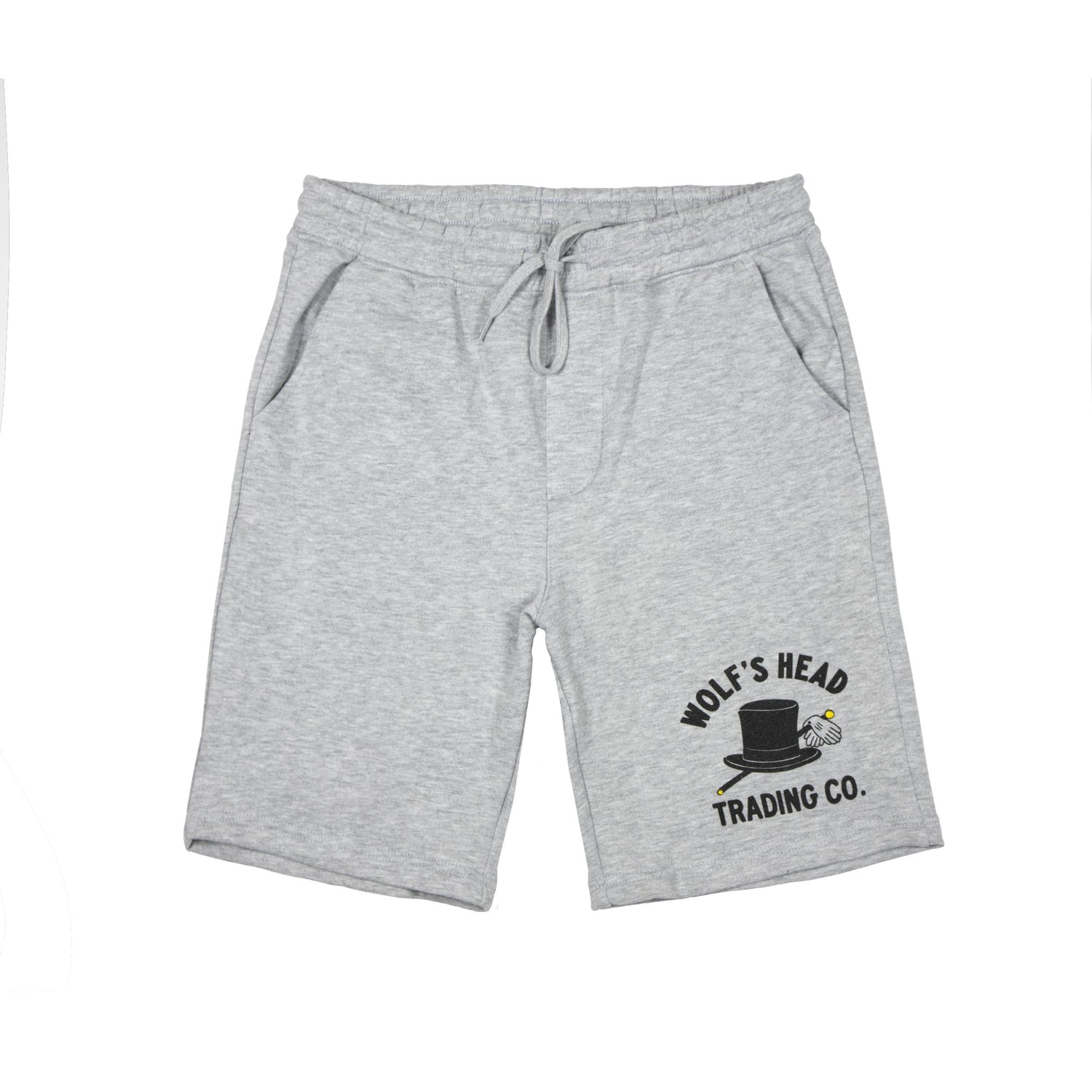 Wolf's Head Car Club Shorts - Heather Grey