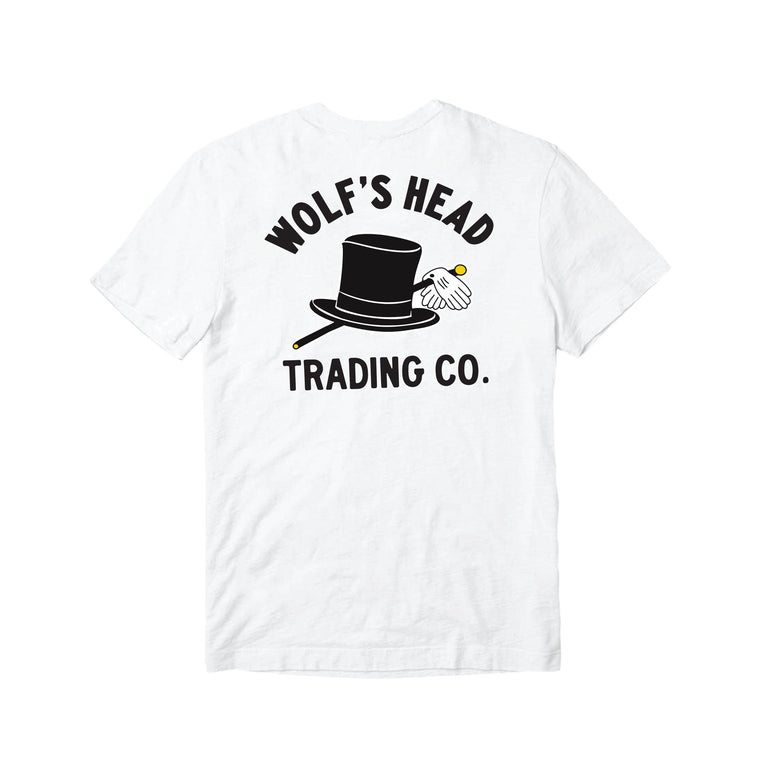 Wolf's Head Car Club T-Shirt -White