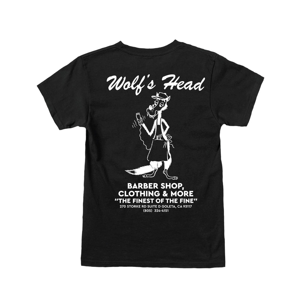 Wolf's Head Barber T-Shirt -Black
