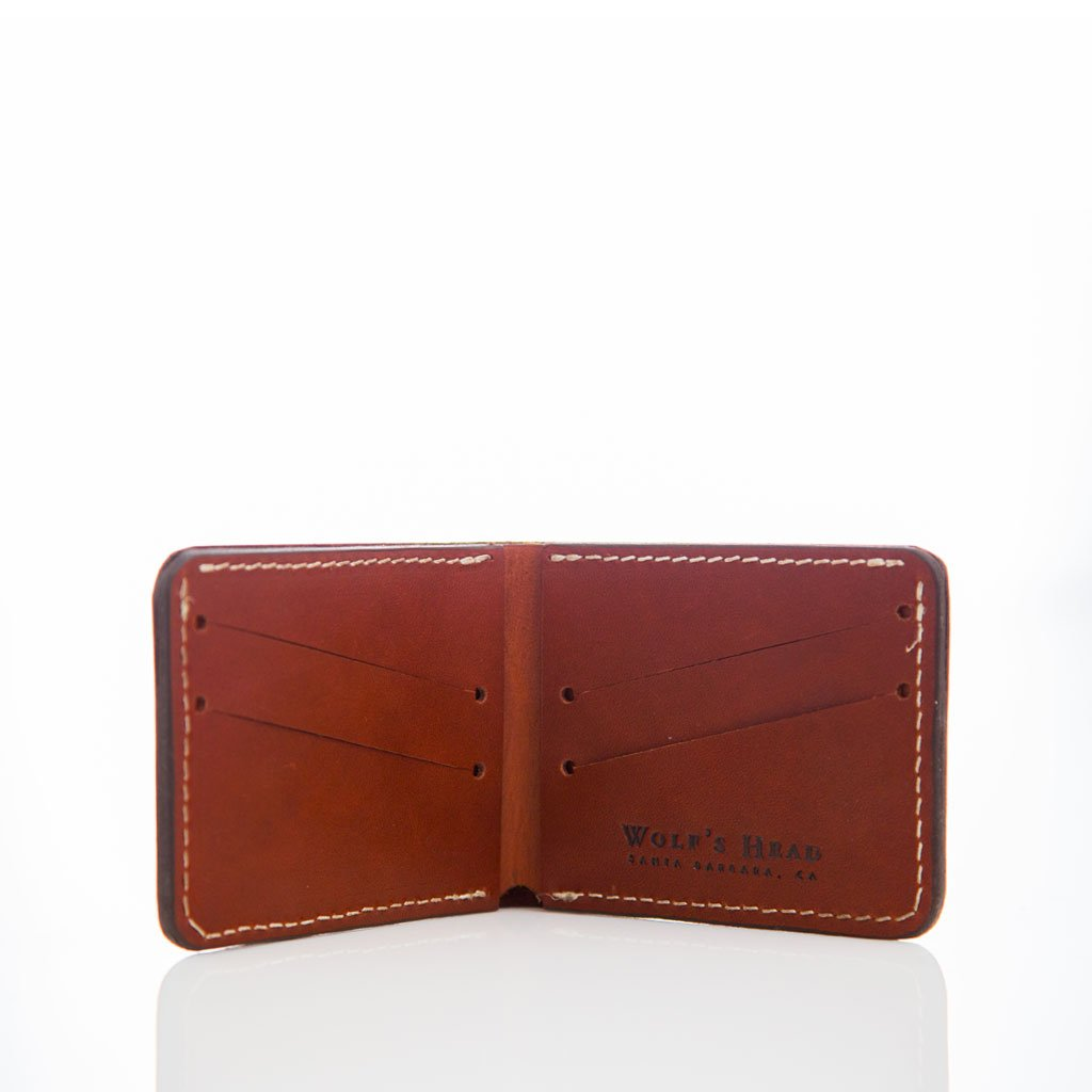 Bi-Fold Leather Wallet | WOLF'S HEAD