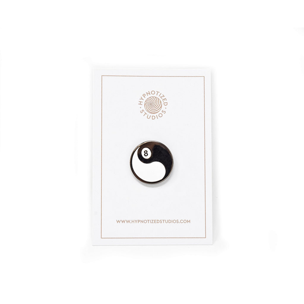 Hypnotized Studios 8ball Ying Yang Lapel Pin | WOLF'S HEAD