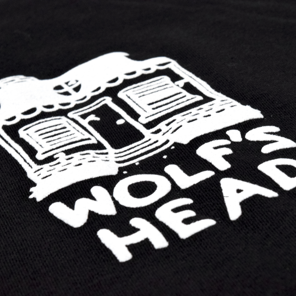 Wolf's Head Bando Puff Print T-Shirt - Black | WOLF'S HEAD