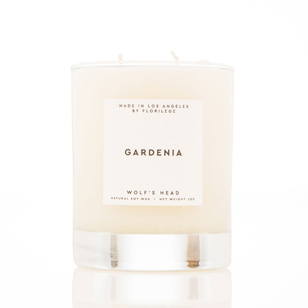 Wolf's Head Gardenia Soy Candle | WOLF'S HEAD