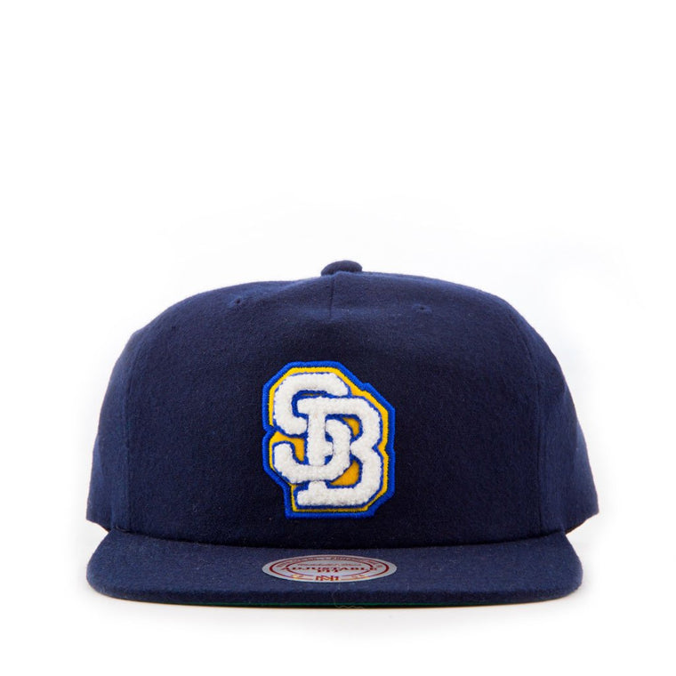 Wolf's Head SB Lock Up Strap Back Hat by Mitchell & Ness
