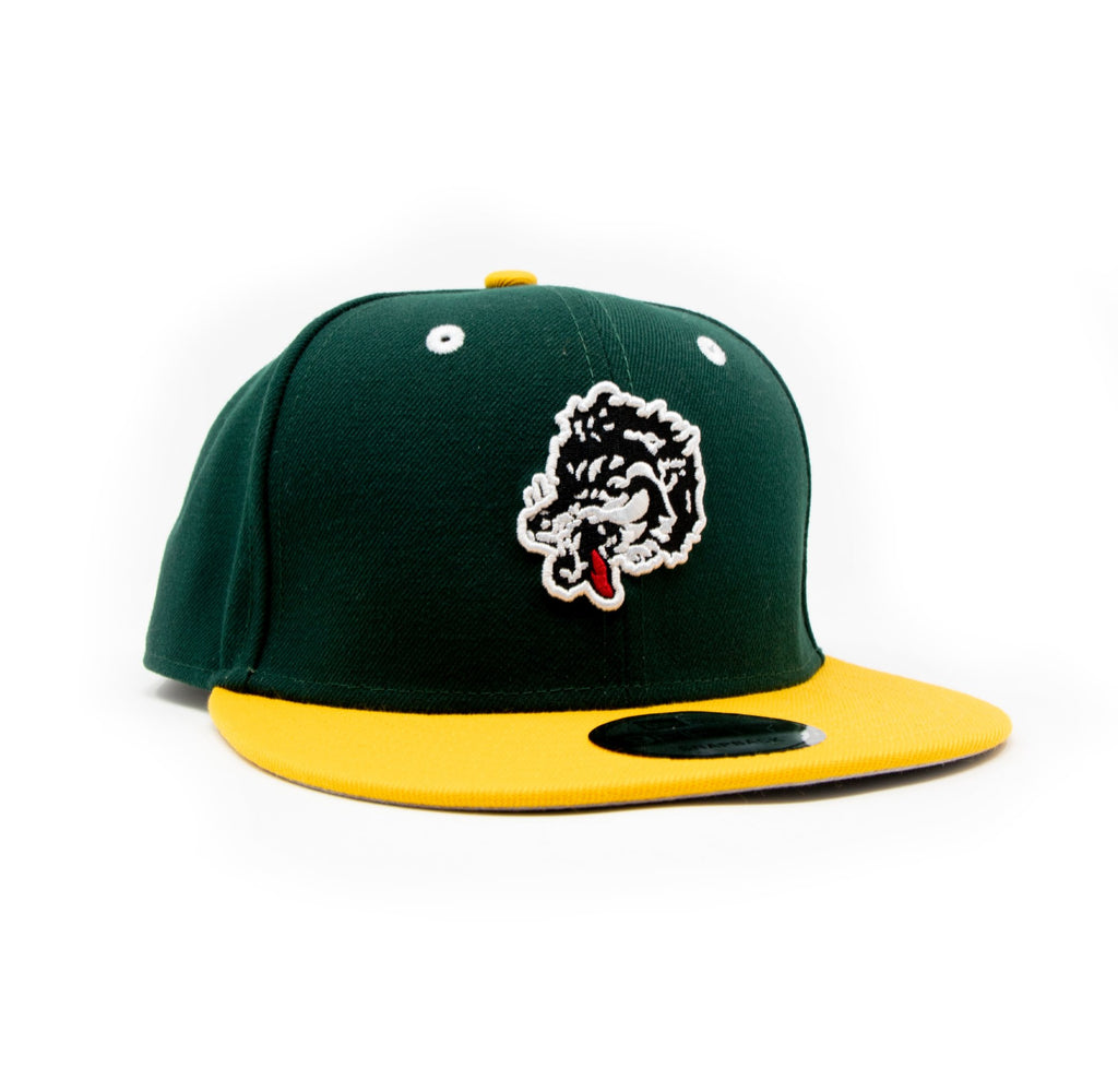New Era For Wolf's Head - Green and Yellow Baseball Cap