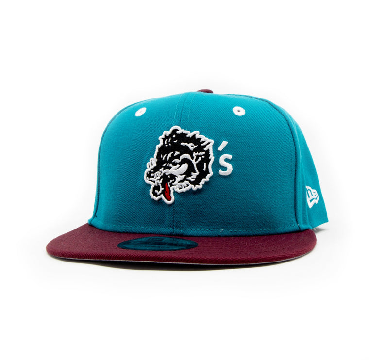 New Era For Wolf's Head - Teel and Burgundy Baseball Cap