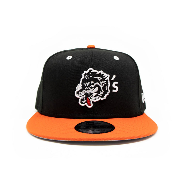 New Era For Wolf's Head - Black and Orange Baseball Cap