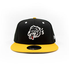 New Era For Wolf's Head - Black and Yellow Baseball Cap