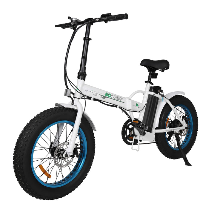Ecotric Portable Folding 500W Electric Fat Tire City Bike