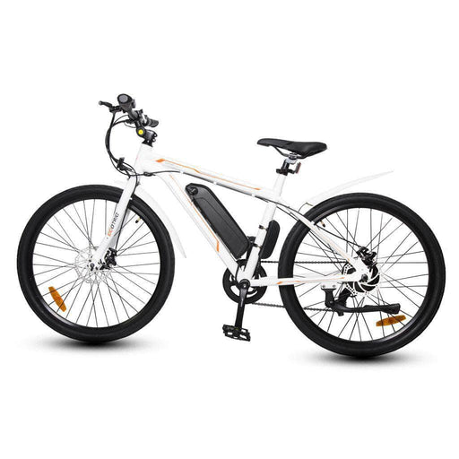 Ecotric Electric Bikes White Ecotric Vortex 350W Electric Cruiser Bike