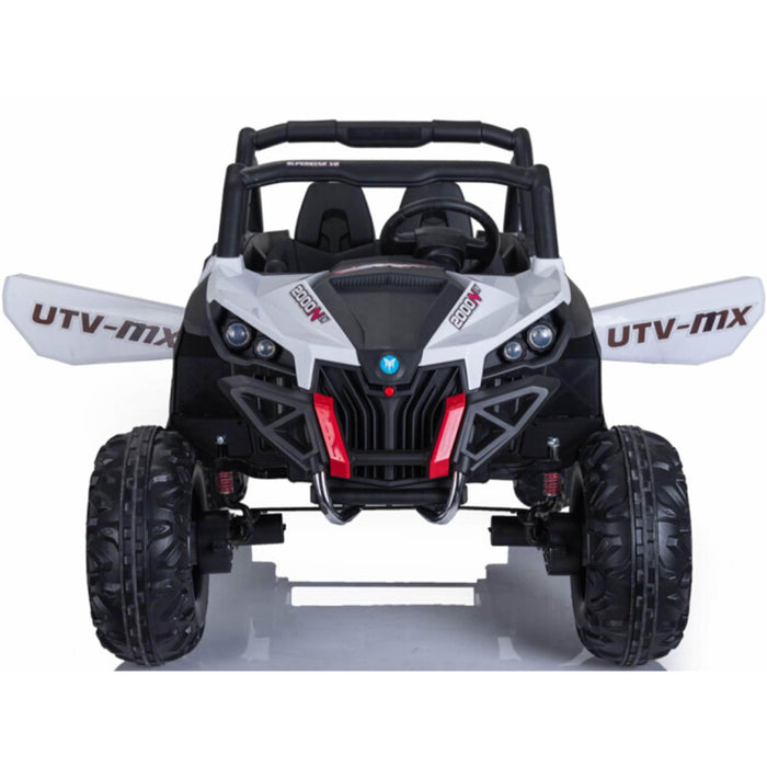 Mini Motos Battery Operated Mini Moto UTV 4x4 12v White (2.4ghz RC)