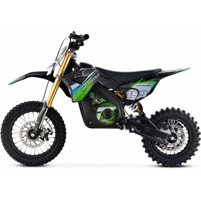 Mototec Electric Bikes MotoTec 36v Pro Electric Dirt Bike 1000w Lithium Green