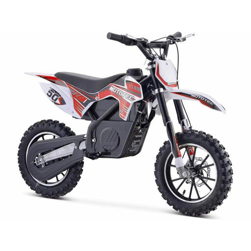 MotoTec Electric Bikes Red MotoTec 24v 500w Gazella Electric Dirt Bike