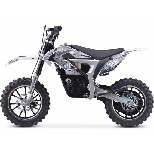 Mototec Electric Bikes White MotoTec 36v 500w Demon Electric Dirt Bike Lithium