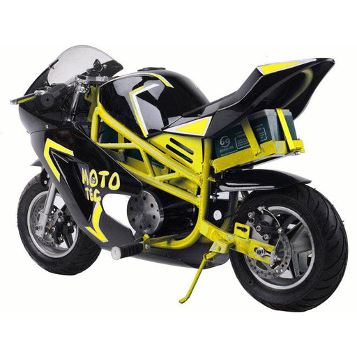 MotoTec Electric Bikes Yellow MotoTec 36v 500w Electric Pocket Bike GT