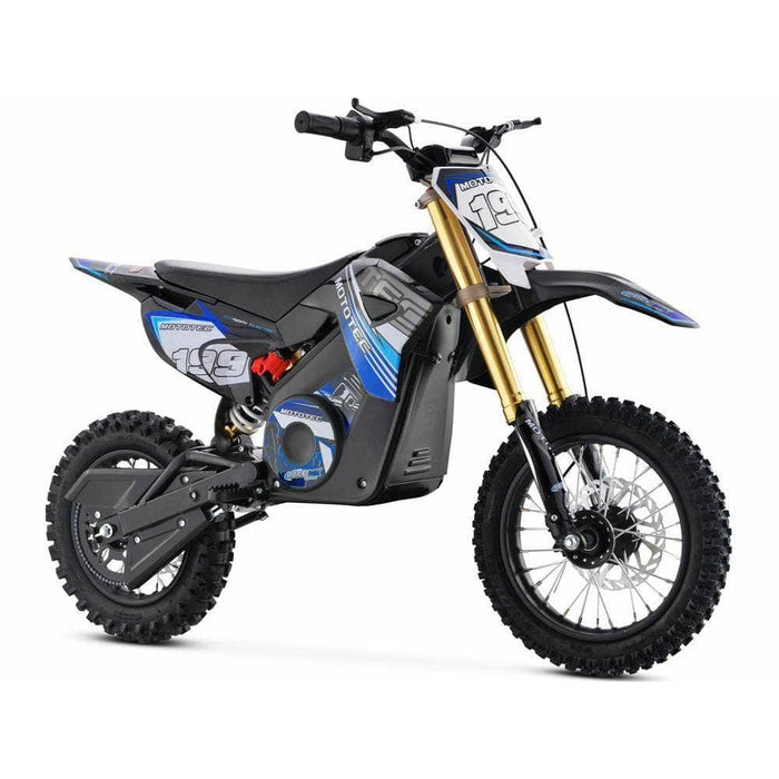 Mototec Electric Dirt Bikes Blue MotoTec 36v 1000W Pro Electric Dirt Bike