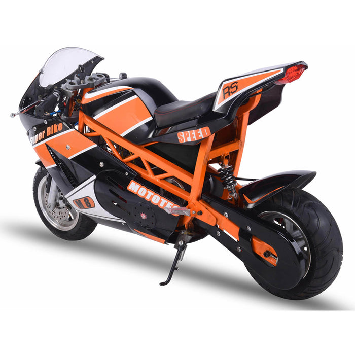 MotoTec Electric Powered 48v 1000w Electric Superbike Black