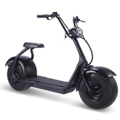MotoTec Electric Powered Fat Tire 60v 18ah 2000w Lithium Electric Scooter Black