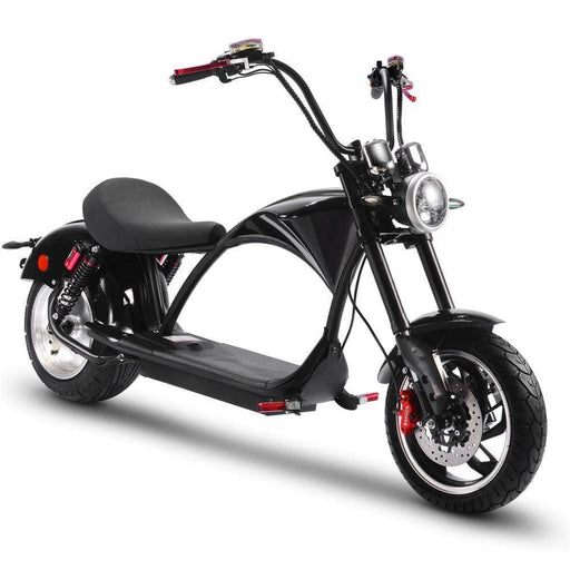 MotoTec Electric Powered MotoTec Lowboy 60v 20ah 2500w Lithium Scooter Black