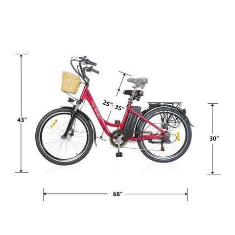 "Nakto Electric Bikes Nakto 26"" City Stroller 250W Electric Cruiser Bike"