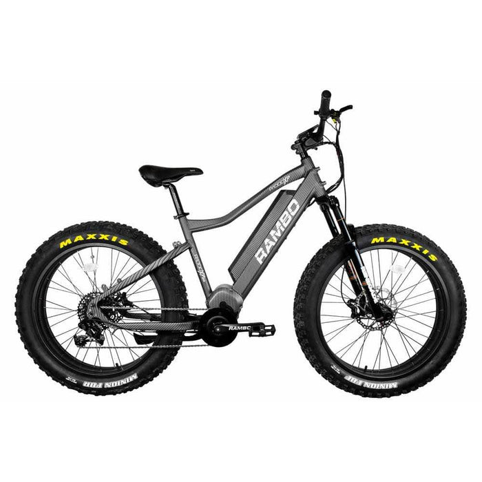 Rambo Electric Bikes Gray Rambo Rebel Electric Mountain Bike