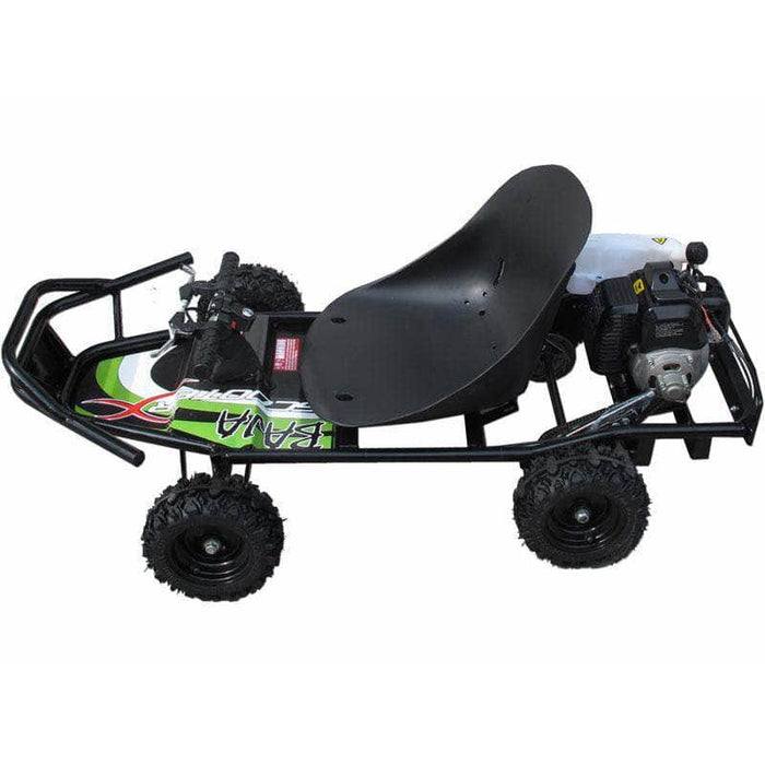 ScooterX Gas Powered Baja Kart 49cc Black/Green