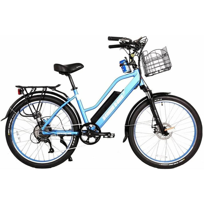X-Treme Electric Bikes Baby Blue X-Treme Catalina 48 Volt 500W Step-Through Electric Cruiser Bike