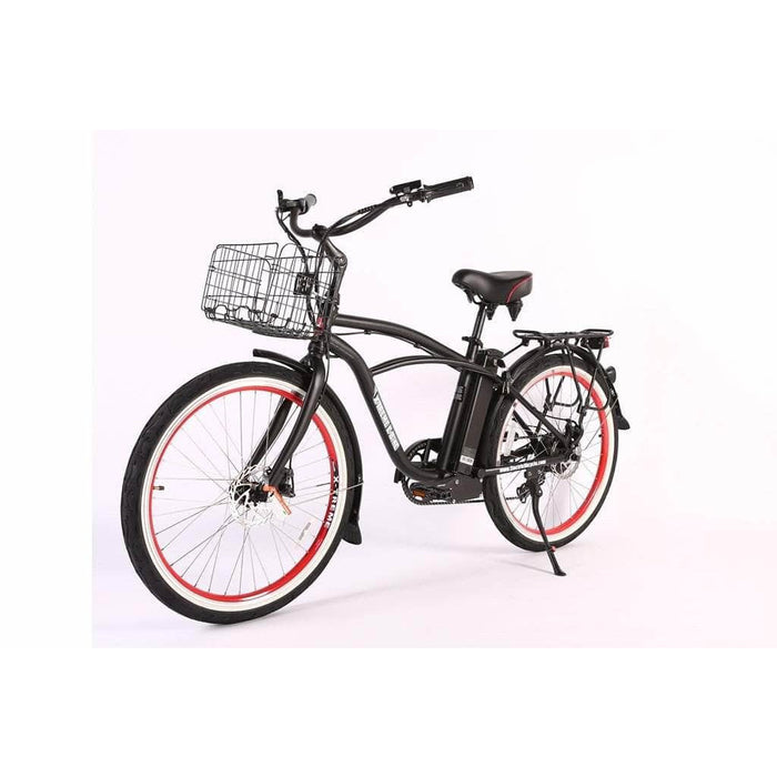 X-Treme Electric Bikes Black X-Treme Newport Elite Max 36 Volt 350W Electric Cruiser Bike