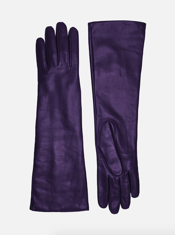 201528 Lamb, Wool, Violet, Female Gloves