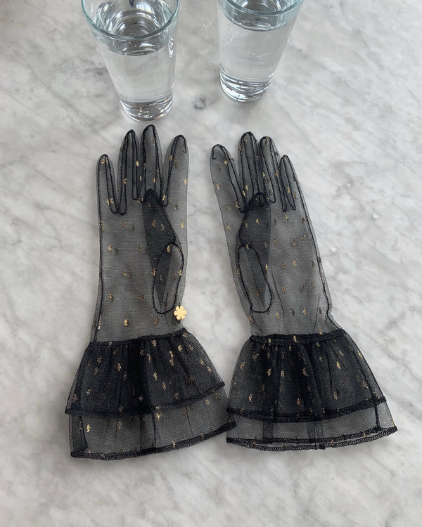 RHANDERS Greta Gloves Black