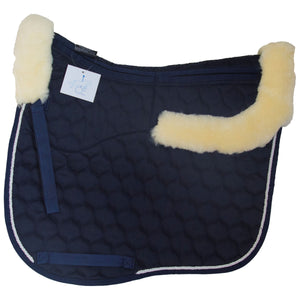 Full rolled edge lambskin dressage square