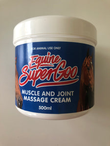 Equine Super Goo muscle and joint massage cream