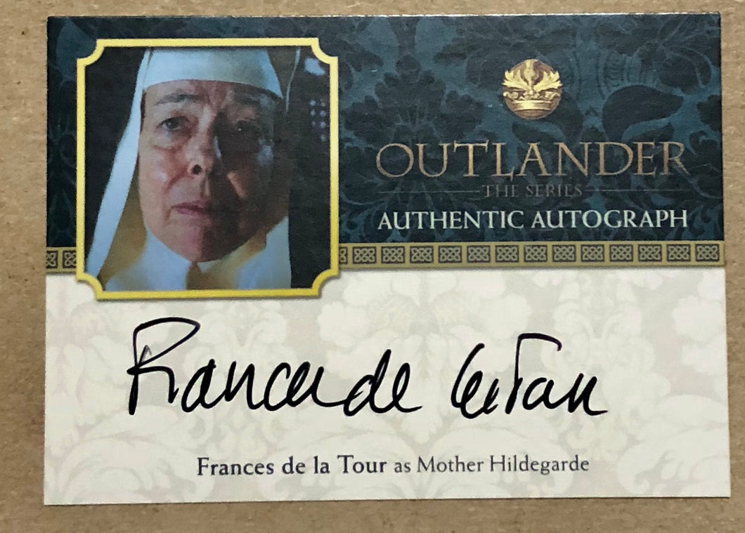 Outlander Season 2: Frances de la Tour Autograph: Mother Hildegarde FT Trading Card