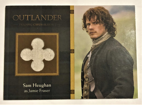 Outlander Season 1 Trading Card  Wardrobe M18: Sam Heughan as Jamie Fraser
