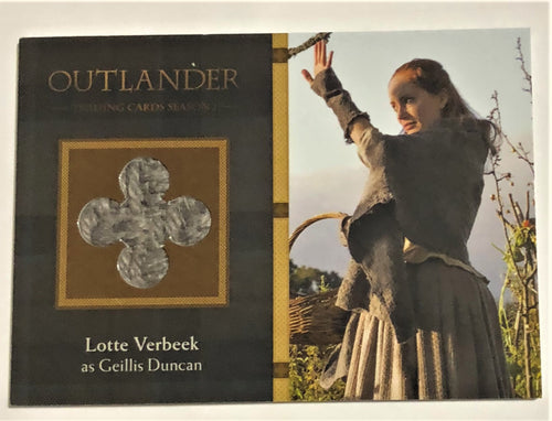 Outlander Season 1 Trading Card  Wardrobe M35: Lotte Verbeek as Geillis Duncan