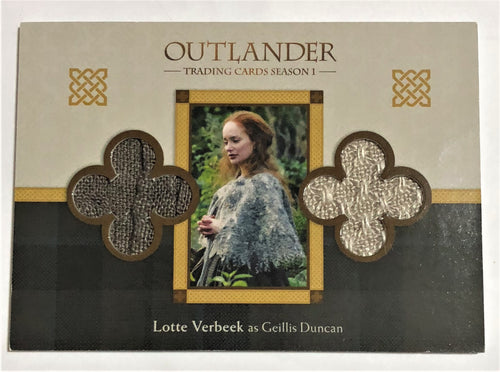 Outlander Season 1 Trading Card Dual Wardrobe DM4 : Lotte Verbeek