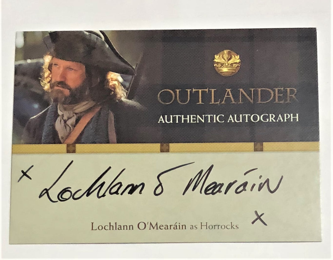 Outlander Season 1 Trading Card LO : Lochlann O'Mearain Autograph; as Horrocks