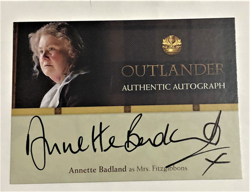 Outlander Season 1 Trading Card AB : Annette Badland Autograph; as Mrs. Fitzgibbons