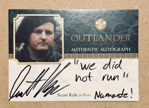 Outlander Season 2: Scott Kyle Autograph: Ross: SK Trading Card