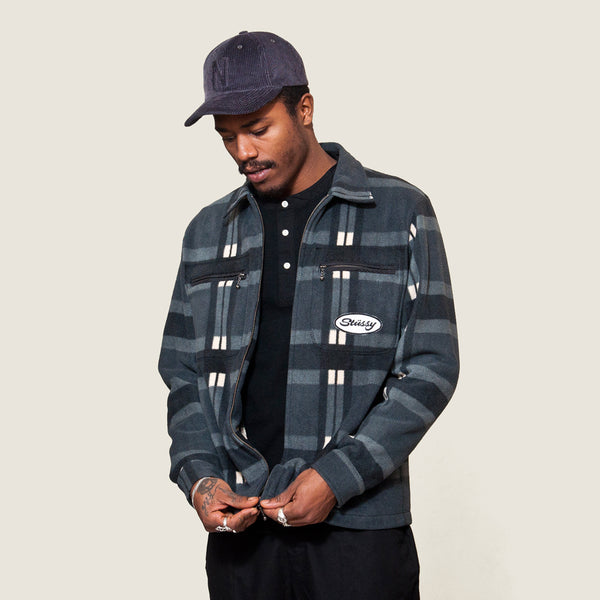 Stüssy Polar Fleece Zip Up Black at shoplostfound