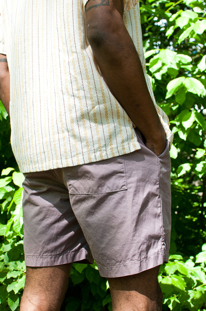 Save Khaki United Light Twill Easy Short Plum at shoplostfound 3