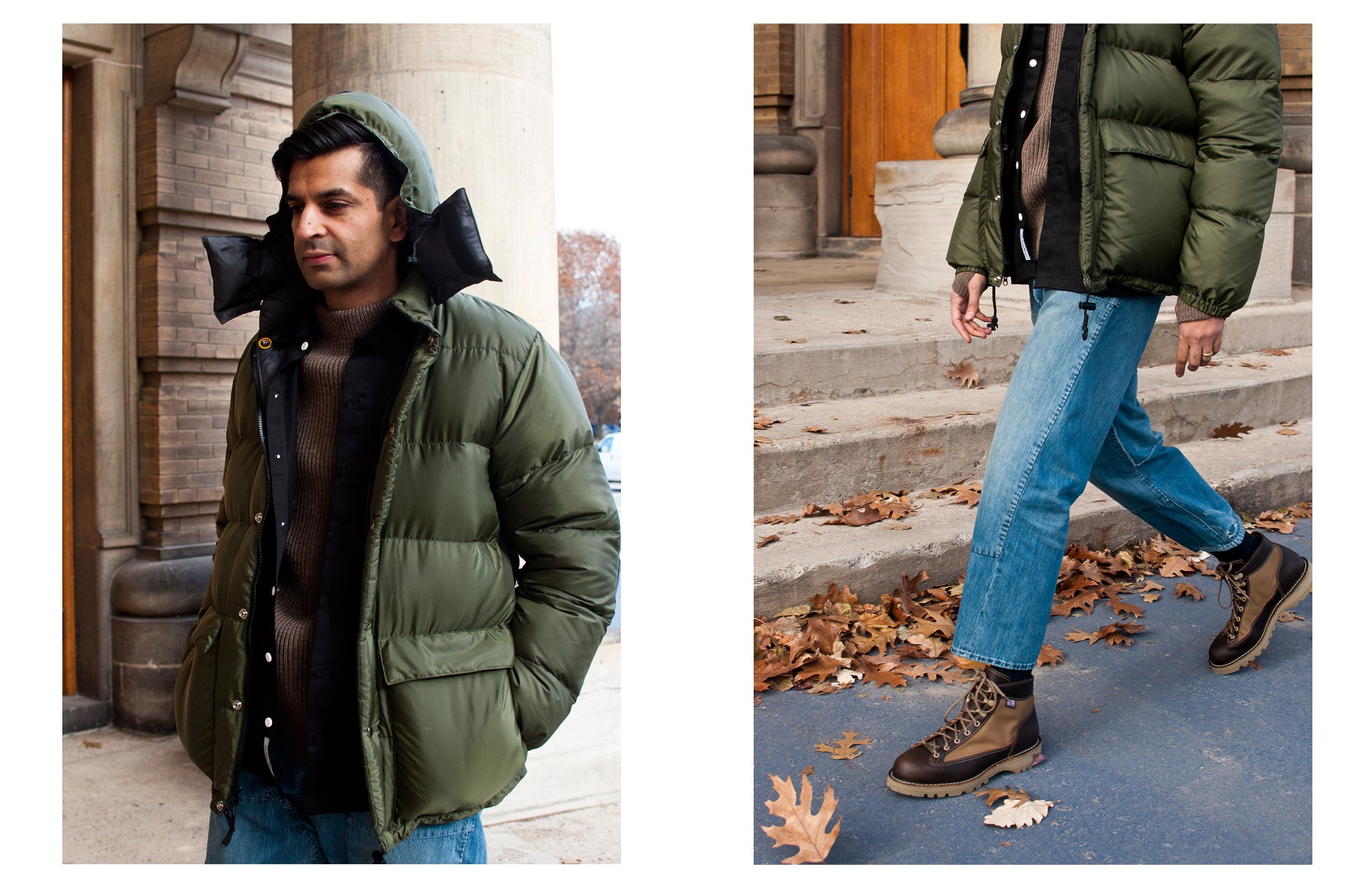 Crescent Down Works 60/40 Classico Parka Olive/Grey at shoplostfound
