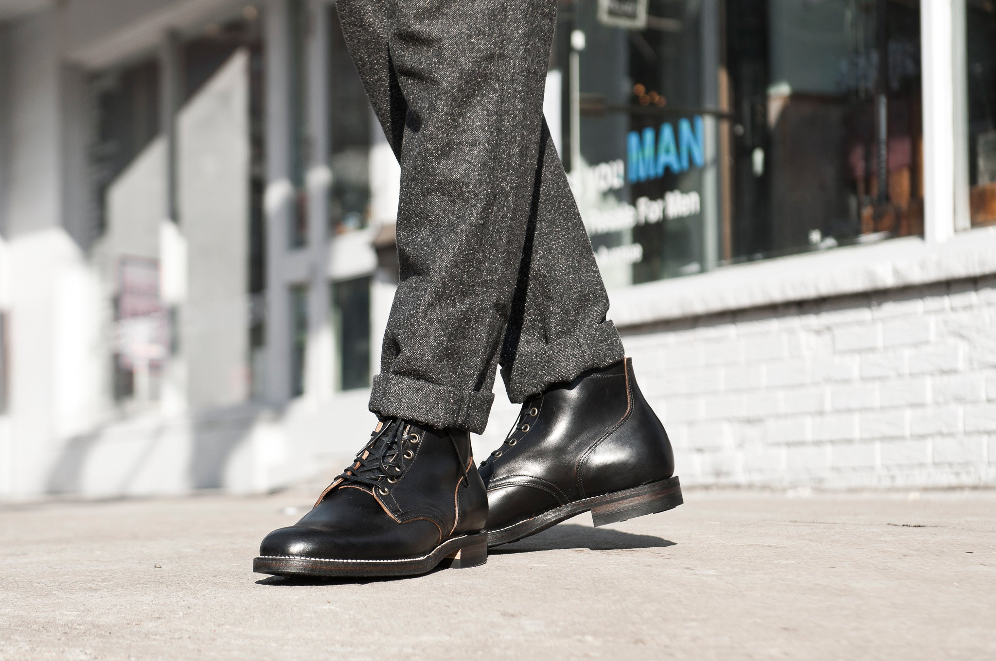 Viberg Black Chromexcel Service Boot at shoplostfound 6