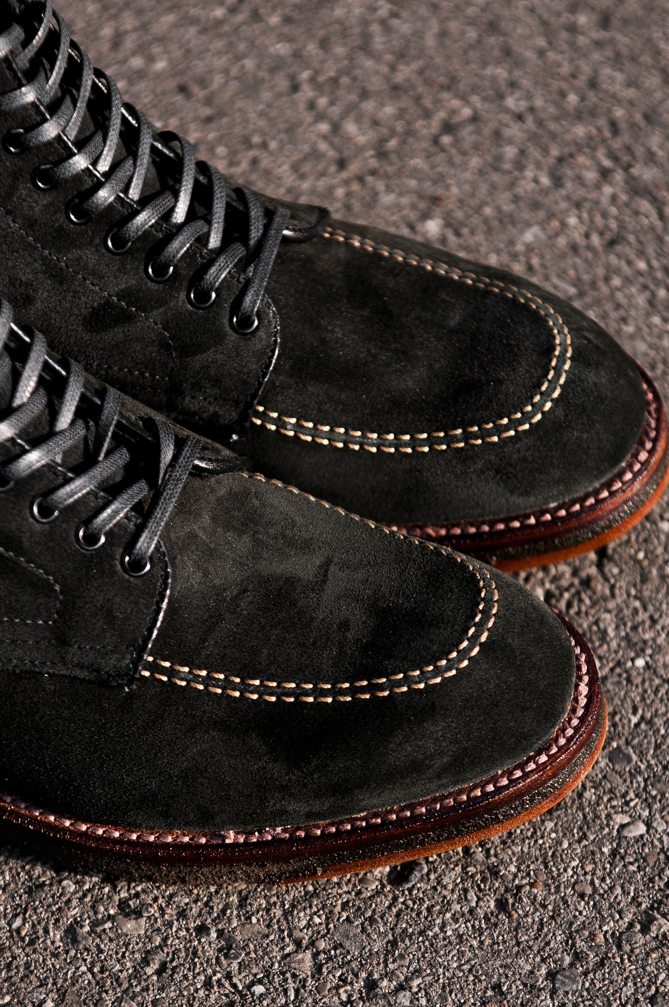 Black Suede Indy Boot Crepe Sole at shoplostfound 4