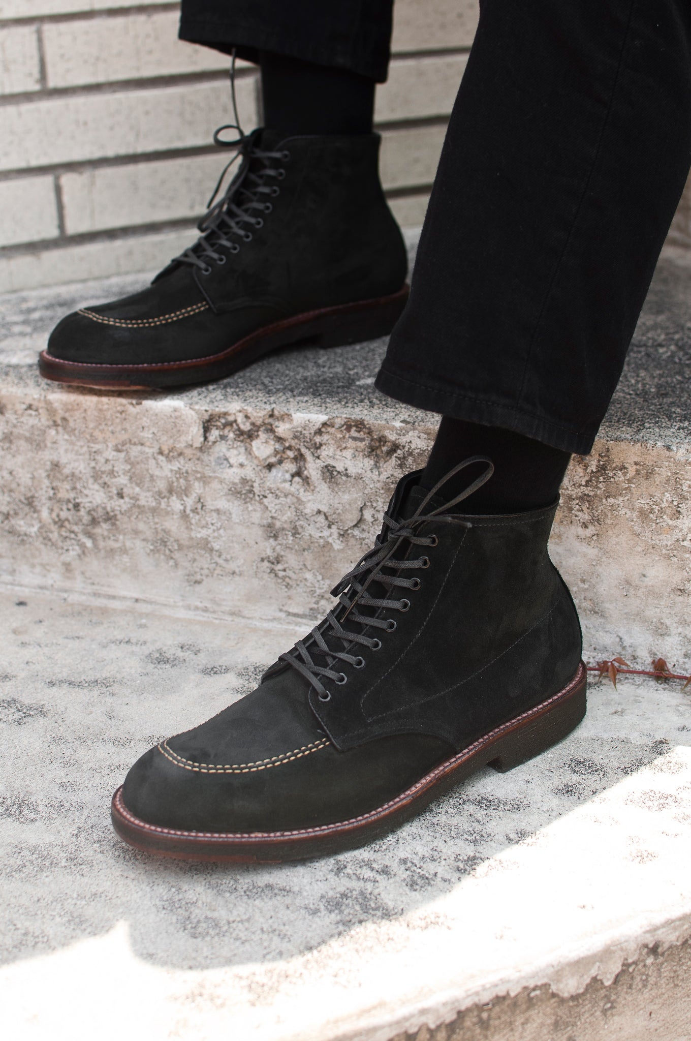 Black Suede Indy Boot Crepe Sole at shoplostfound 5