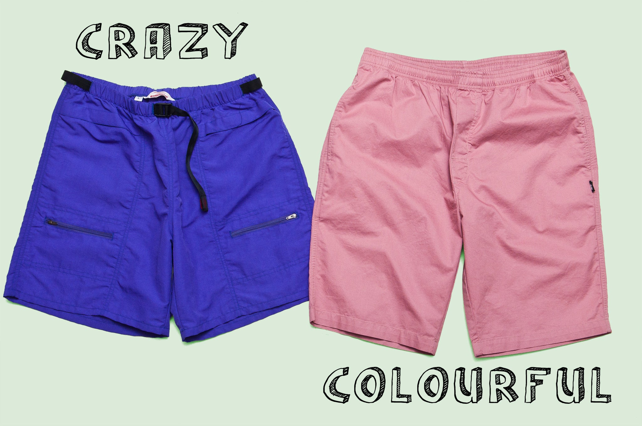 Battenwear Camp Shorts and Stüssy Light Twill Beach Shorts
