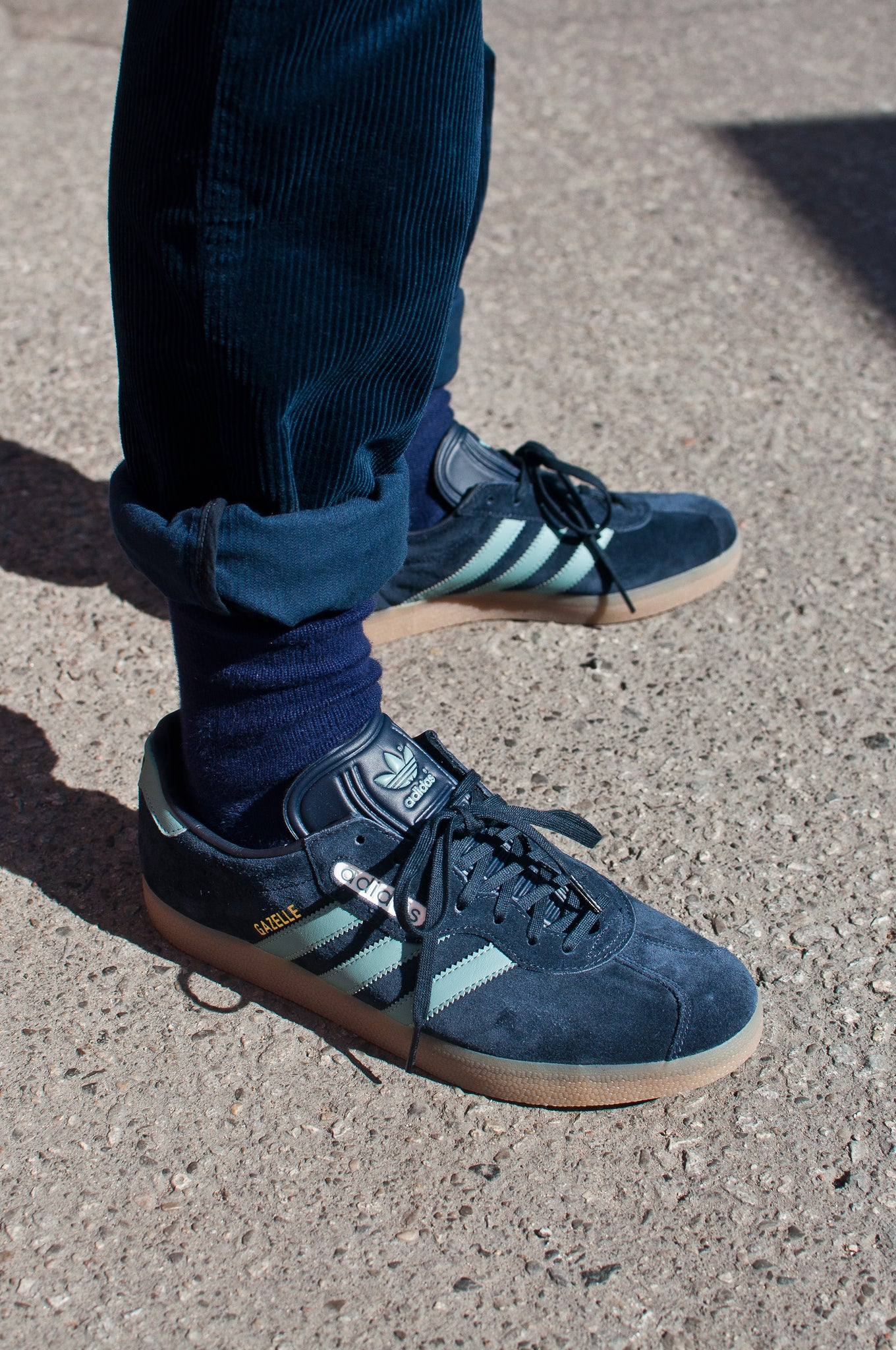 Adidas Originals Gazelle Super Night Navy/Vapour Steel at shoplostfound