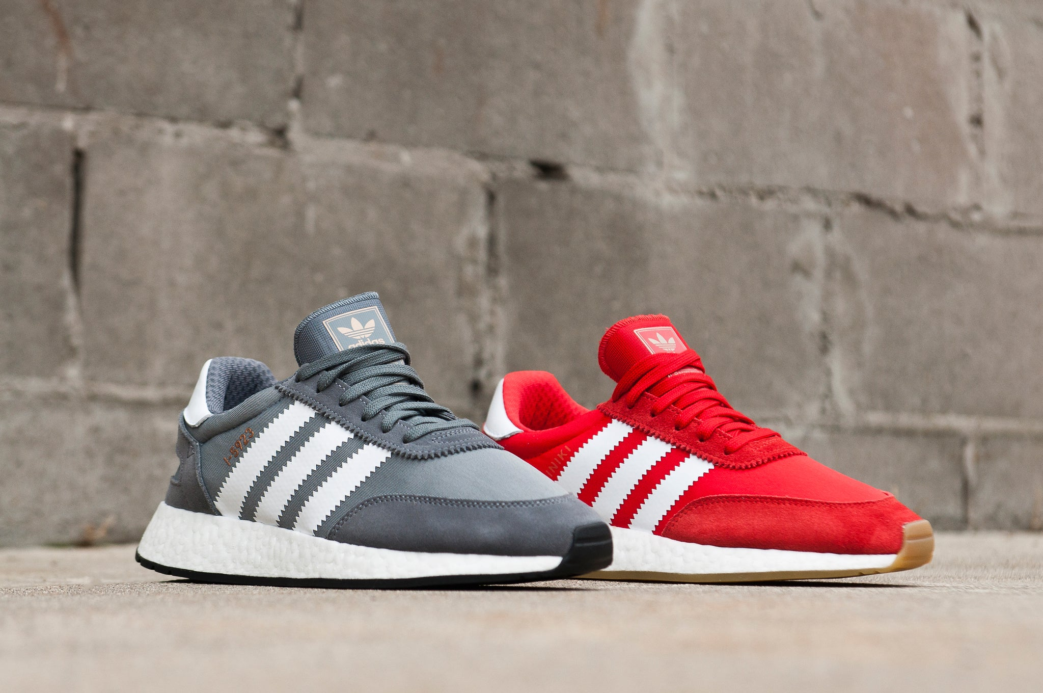 Adidas Originals Iniki Runner Red and Gray at shoplostfound 1