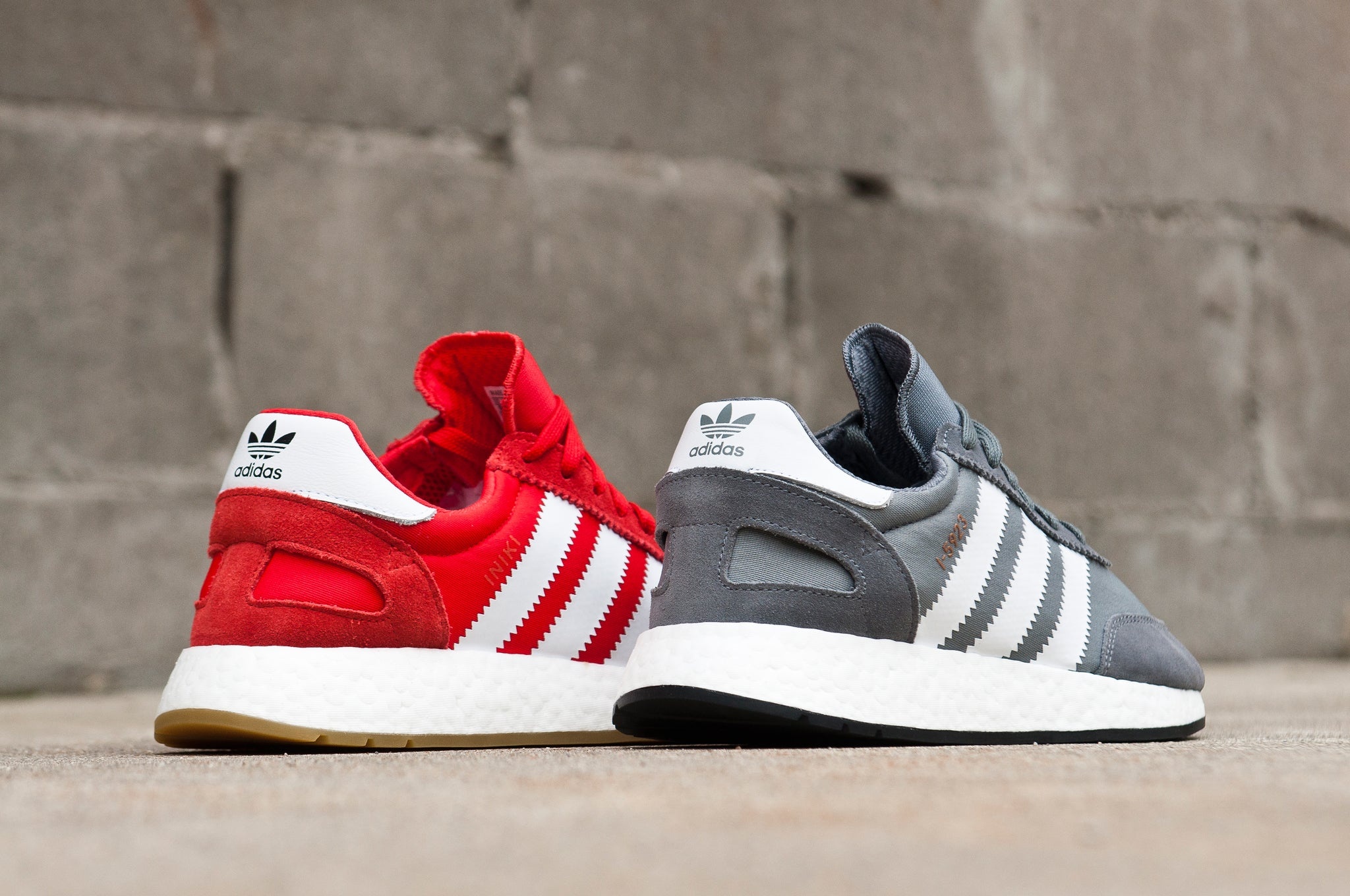 Adidas Originals Iniki Runner Red and Gray at shoplostfound 2